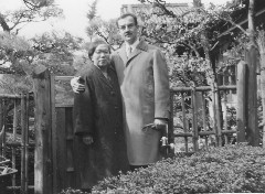 Bob Muller and Kazue Sumii, during one of Bob's visits to Japan.  Click for higher resolution view.